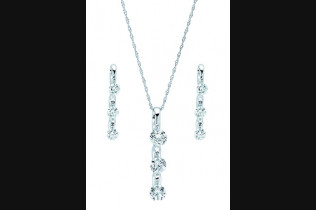 G7285 Shimmering Diamonds Pendant 1ctw or 1.5ctw G7585 Shimmering Diamonds Earrings 0.25, 0.33, 0.5, or 1ctw