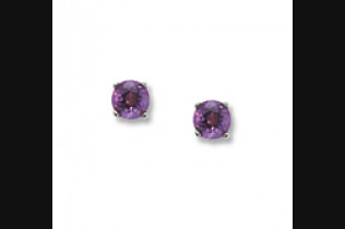 Amethyst Birthstone Studs *all birthstones available
