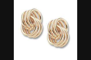Coiled Love Knot Earrings