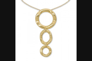Triple Wavy Disc Necklace