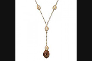 Simple Duet Pearl Y Necklace