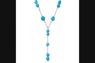 Turquoise Nugget Y Necklace