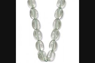 Praseolite Bead Necklace