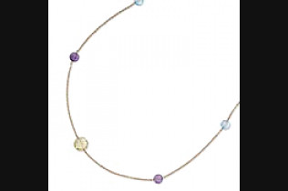 Multi-Color Round Briolette Necklace